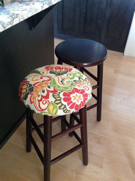 Diy Covering A Bar Stool Seat