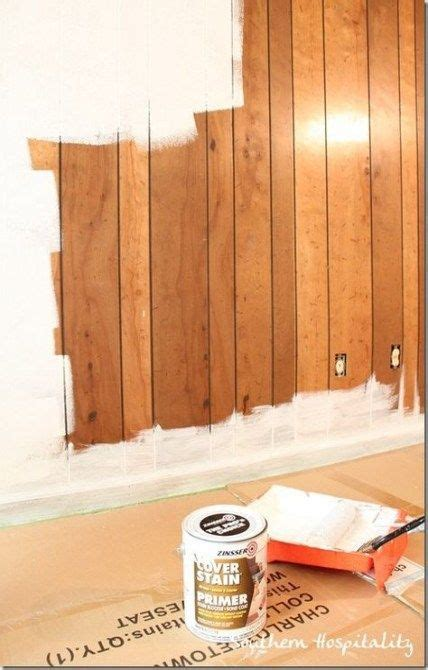 Diy Covering Wood Panelling With Paint