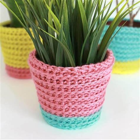 Diy Cozy Cover For Potted Plants
