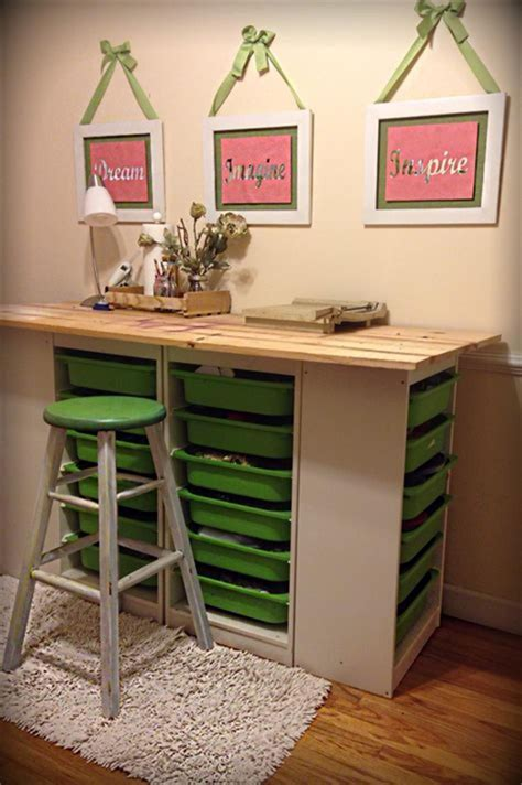 Diy Craft Room Table And Storage