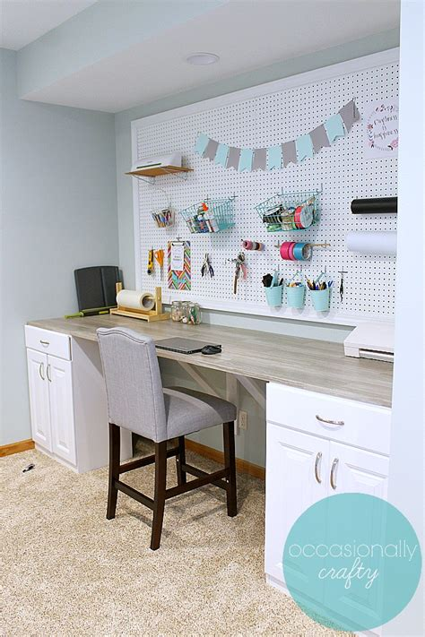 Diy Craft Table Using Stock Cabinets
