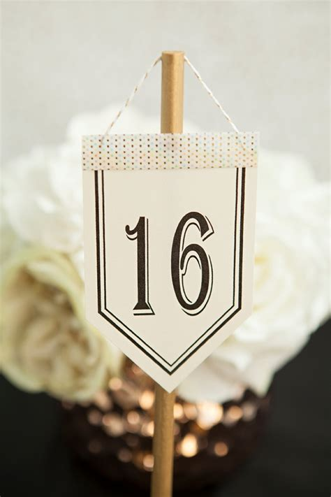 Diy Crank Hanging Table Numbers