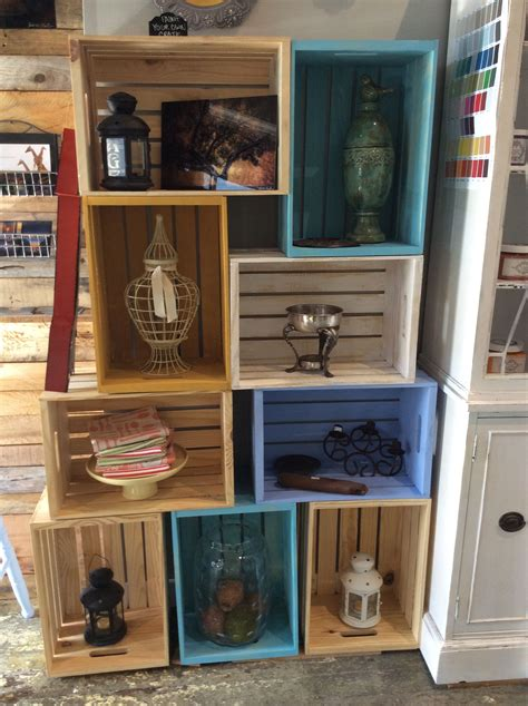 Diy Crate Bookshelf Chalk Paint