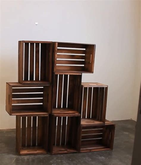 Diy Crate Shelf