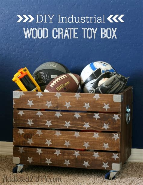 Diy Crate Toy Box