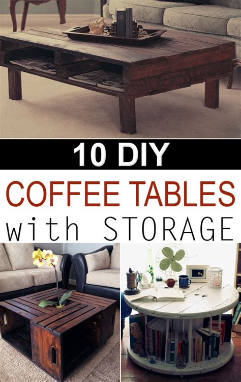 Diy Creative Coffee Tables With Storage