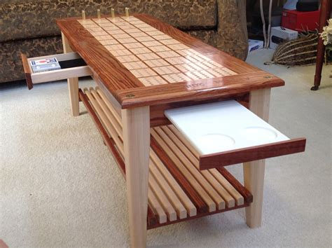 Diy Cribbage Board Coffee Table