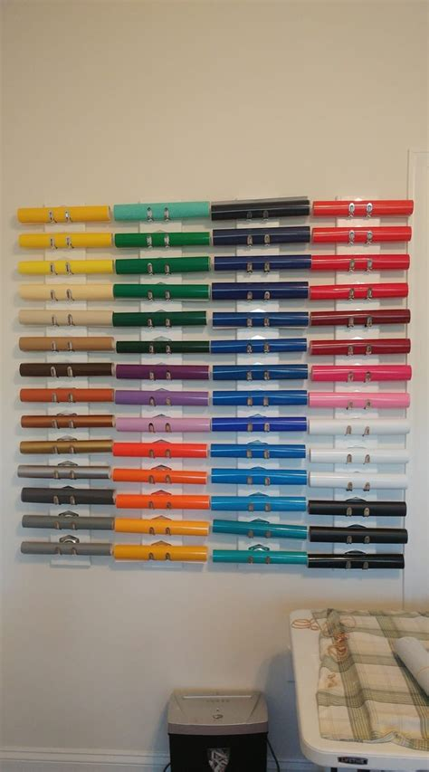 Diy Cricut Vinyl Storage