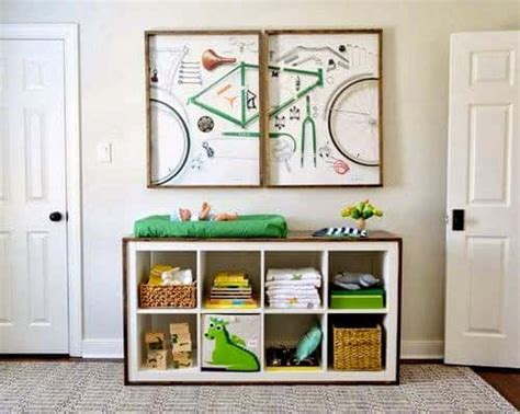 Diy Cube Storage Changing Table