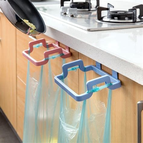 Diy Cupboard Door Hanging Storage Trash Rack