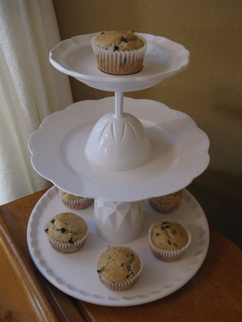 Diy Cupcake Stand With Plates