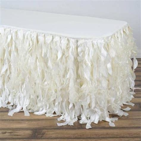 Diy Curly Willow Taffeta Table Skirt