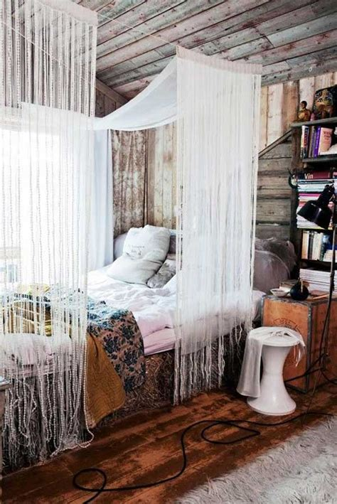 Diy Curtain Canopy Above Bed