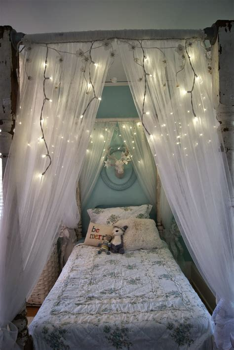 Diy Curtain Canopy Over Bed
