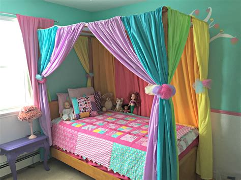 Diy Curtain For Girls Bed