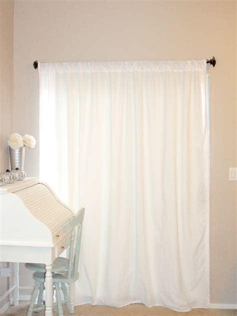 Diy Curtains From Flat Sheets