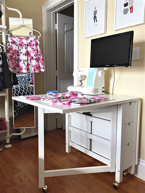 Diy Cutting Table For Sewing Room In Pc Armoire
