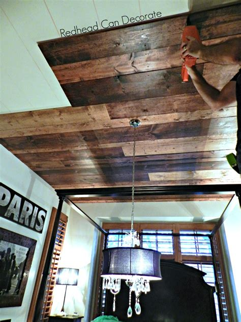 Diy Dark Wood Collage Attic Ceiling
