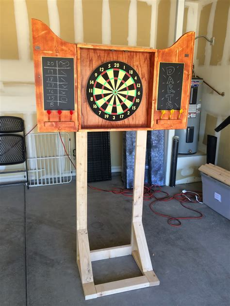 Diy Dart Board Stand Up