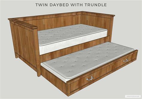 Diy Daybed With Trundle Building Plans