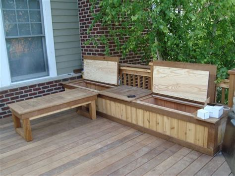 Diy Deck Bench Seating Plans With Storage