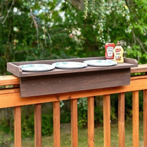 Diy Deck Rail Table Bar