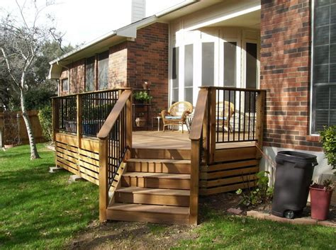 Diy Deck Railing For Mobile Home