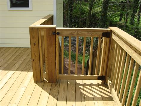 Diy Deck Stair Gate