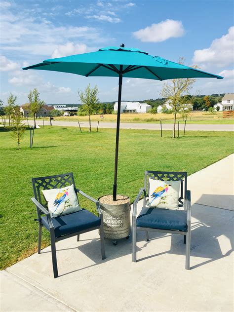Diy Deck Umbrella Stand