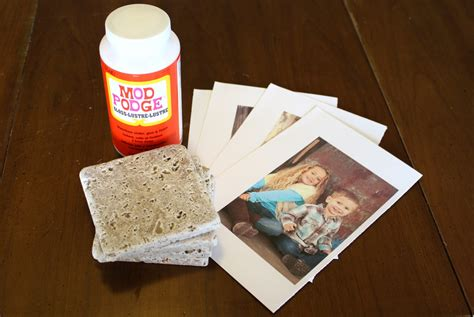 Diy Decoupage Ceramic Tile Coasters