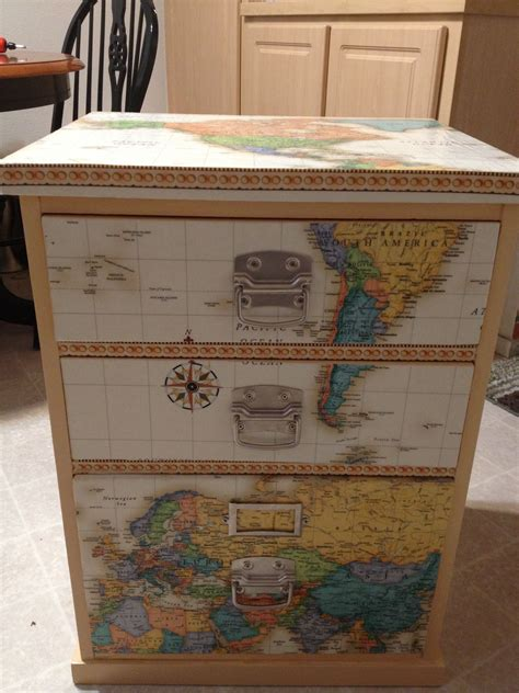 Diy Decoupage File Cabinets 14