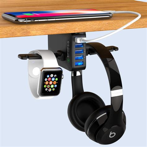 Diy Desk Headphone Stand With Usb
