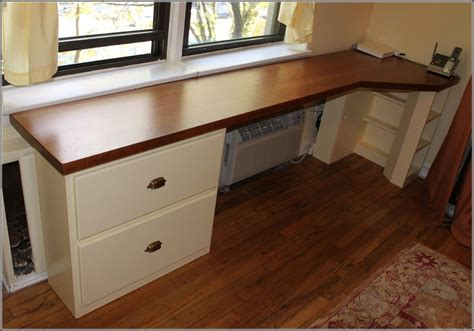 Diy Desk With Base Cabinets
