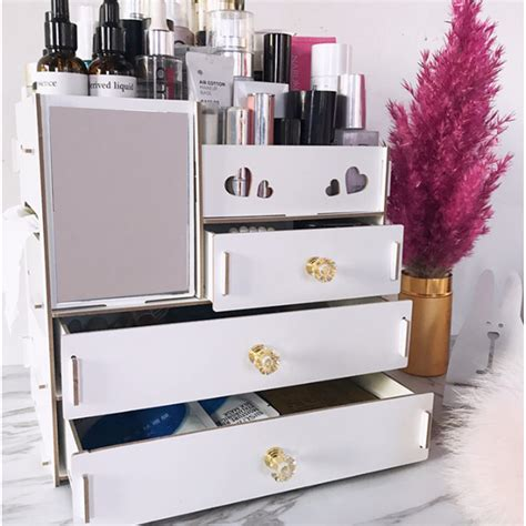 Diy Desktop Makeup Storage