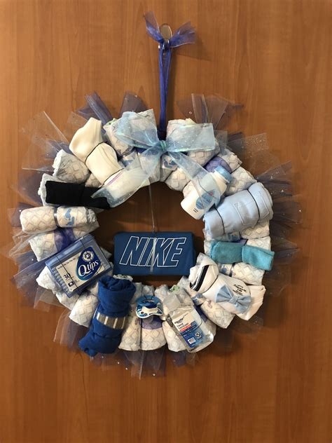 Diy Diaper Wreath Boy Dog