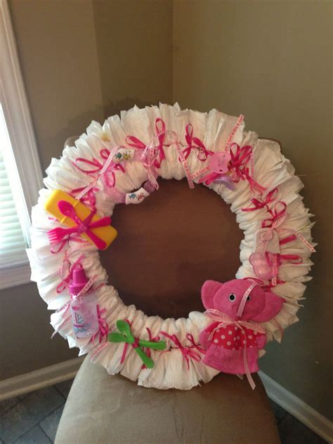 Diy Diaper Wreaths For Baby Girls