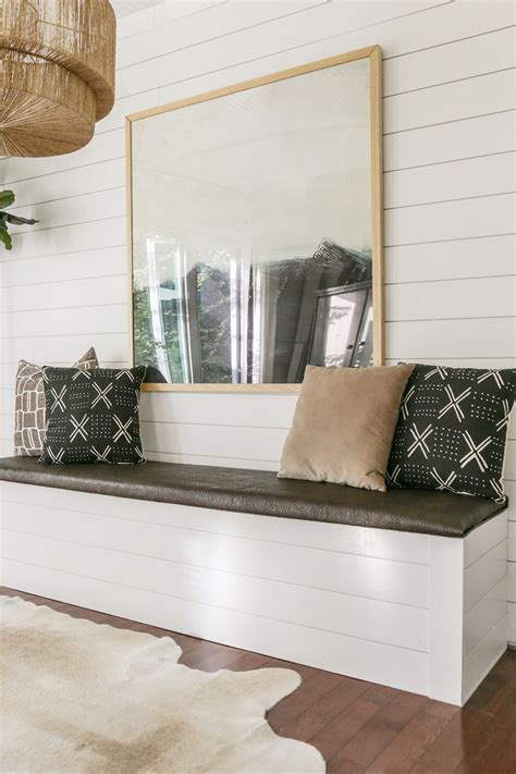 Diy Dining Room Storage Bench With Backrest