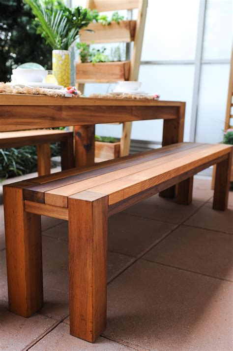 Diy Dining Table With Benches