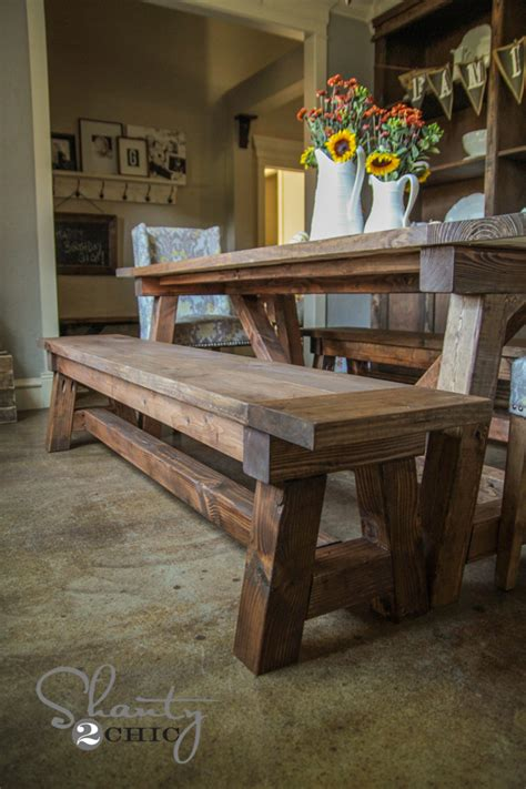 Diy Dinner Table Bench Seat