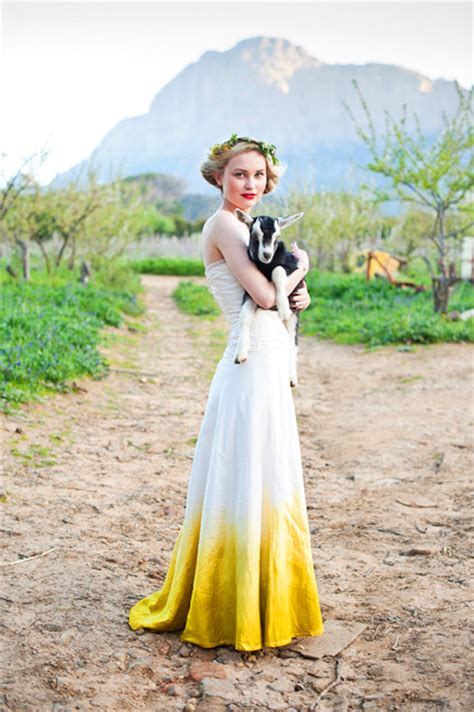 Diy Dip Dye Wedding Dress