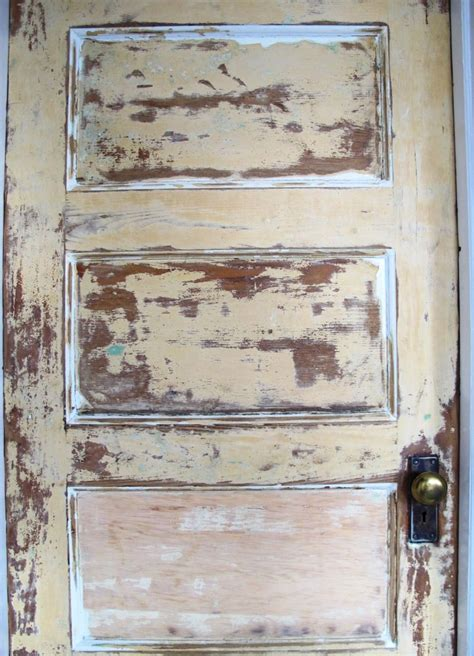 Diy Distress Raw Wood Door