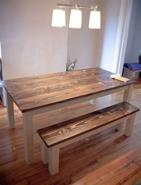 Diy Distressed Wood Kitchen Table