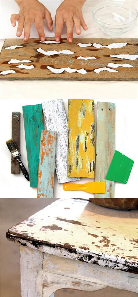 Diy Distressed Wood Painting Techniques