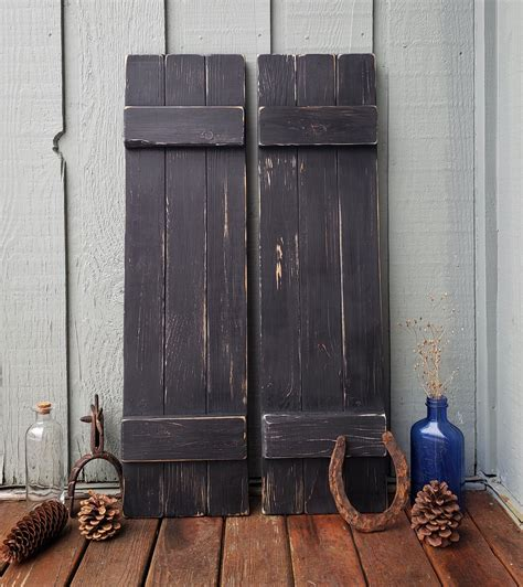 Diy Distressed Wood Shutters