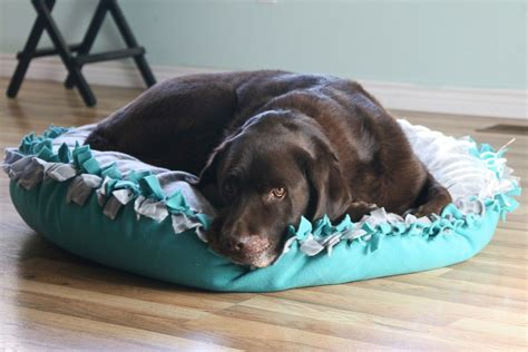 Diy Dog Bed With Fleece