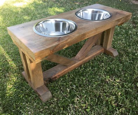 Diy Dog Bowl Bench