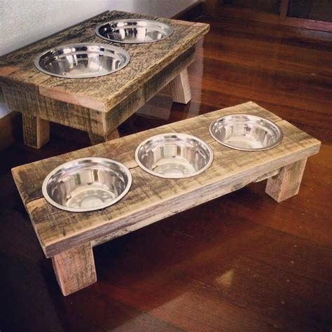 Diy Dog Bowl Stand Pallet Wood