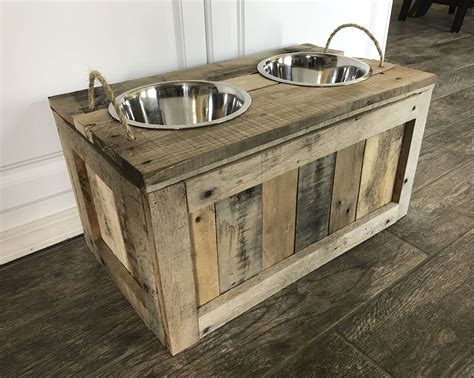 Diy Dog Bowl Stand With Storage