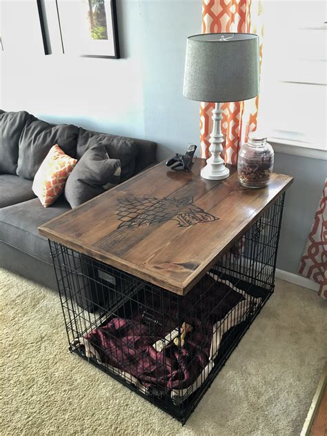 Diy Dog Crate Table Top