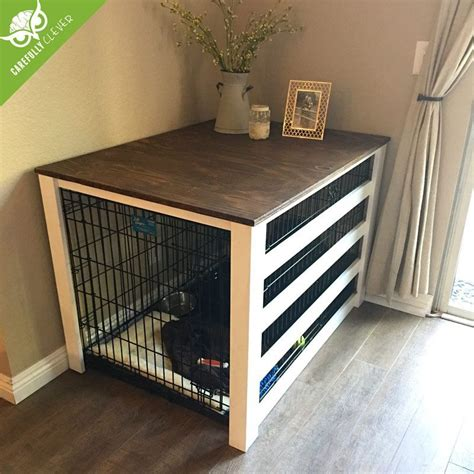 Diy Dog Crate Wood Cover